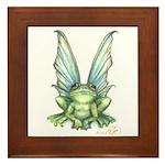 Fairy Frog Framed Tile