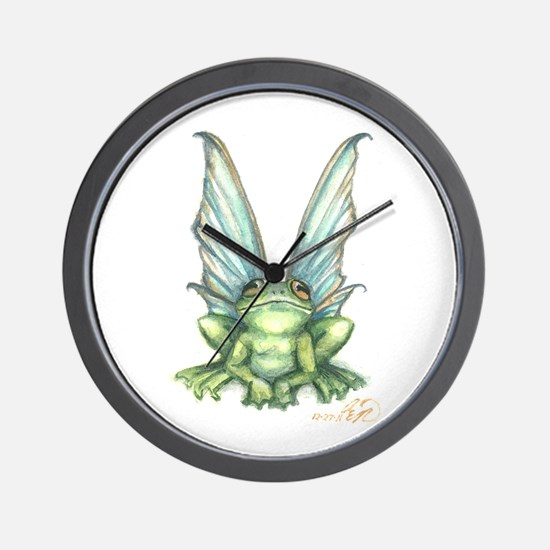 Fairy Frog Wall Clock