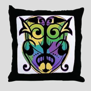 Mardi Gras Magic Mask Throw Pillow