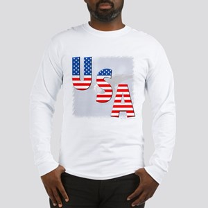 Patriotic Eagle/USA Long Sleeve T-Shirt