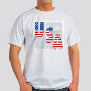 Patriotic Eagle/USA Ash Grey T-Shirt