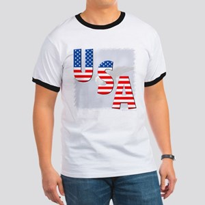 Patriotic Eagle/USA Ringer T