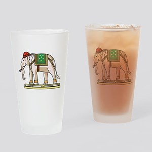Siam Elephant Flag Drinking Glass