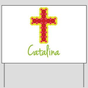 Catalina Bubble Cross Yard Sign