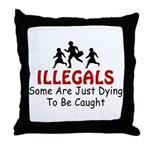 Just Dying  Throw Pillow