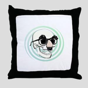 Groucho Skull Throw Pillow