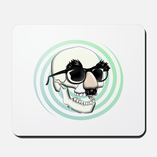 Groucho Skull Mousepad
