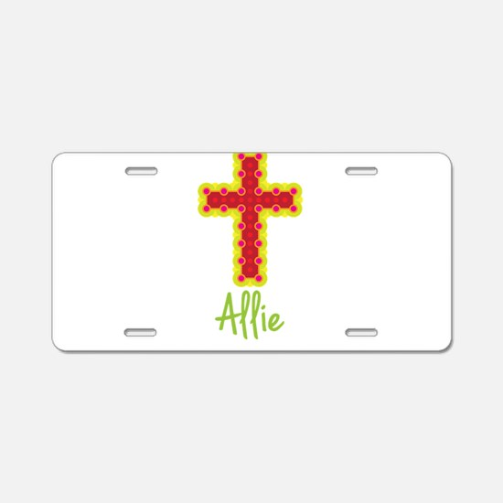 Allie Bubble Cross Aluminum License Plate