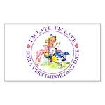 I'm Late, I'm Late! Sticker (Rectangle 10 pk)