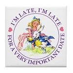 I'm Late, I'm Late! Tile Coaster