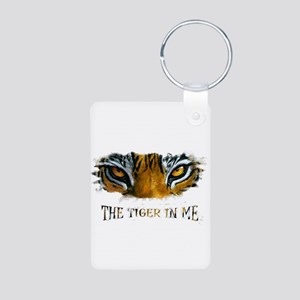 the tiger in me Aluminum Photo Keychain