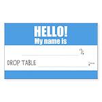 Writable SQLi Name Tag Sticker (Rectangle 10 pk)