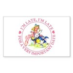 I'm Late, I'm Late! Sticker (Rectangle 50 pk)