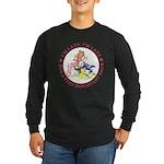 I'm Late, I'm Late! Long Sleeve Dark T-Shirt