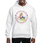 I'm Late, I'm Late! Hooded Sweatshirt