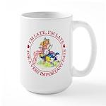 I'm Late, I'm Late! Large Mug