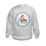 I'm Late, I'm Late! Kids Sweatshirt