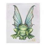 Fairy Frog Throw Blanket