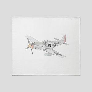 North American P-51 Mustang Throw Blanket