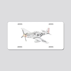 North American P-51 Mustang Aluminum License Plate