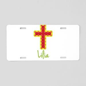 Lilia Bubble Cross Aluminum License Plate