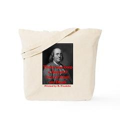 Ben Franklin: Keeping a Secre Tote Bag