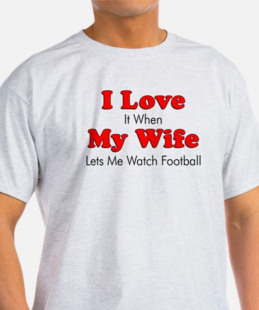 Lets Me Watch Football T-Shirt