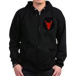 34th Infantry Zip Hoodie (dark)