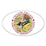 I'm Late, I'm Late! Sticker (Oval 10 pk)