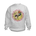 I'm Late, I'm Late! Kids Sweatshirt