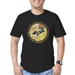 I'm Late, I'm Late! Men's Fitted T-Shirt (dark)