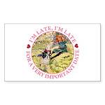 I'm Late, I'm Late! Sticker (Rectangle 50 pk)