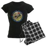 I'm Late, I'm Late! Women's Dark Pajamas