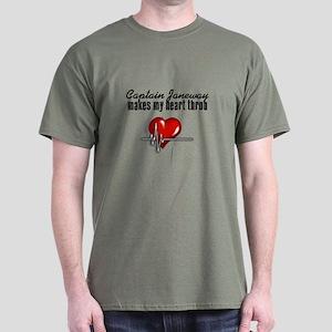 Captain Janeway makes my heart throb Dark T-Shirt