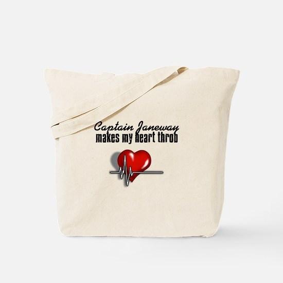 Captain Janeway makes my heart throb Tote Bag