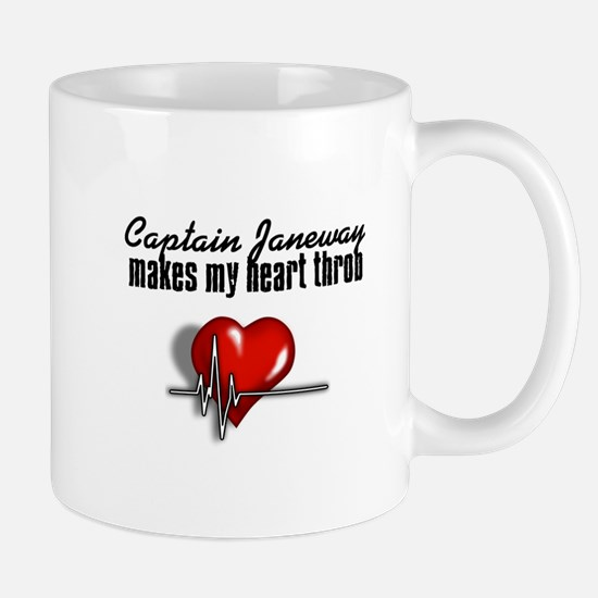 Captain Janeway makes my heart throb Mug