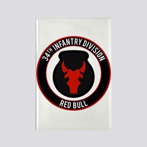 "34th Infantry ""Red Bull"" Rectangle Magnet"