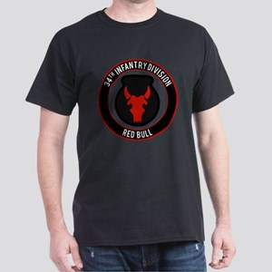 """34th Infantry """"Red Bull"""" Dark T-Shirt"""