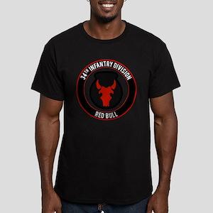"34th Infantry ""Red Bull"" Men's Fitted T-Shirt (dar"