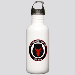 """34th Infantry """"Red Bull"""" Stainless Water Bottle 1."""