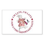 I'm Late, I'm Late! Sticker (Rectangle 10 pk)