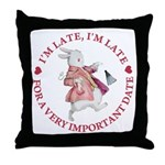 I'm Late, I'm Late! Throw Pillow