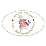 I'm Late, I'm Late! Sticker (Oval 50 pk)