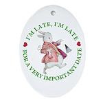 I'm Late, I'm Late! Ornament (Oval)