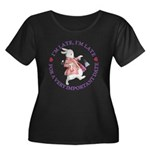 I'm Late, I'm Late! Women's Plus Size Scoop Neck D