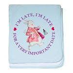 I'm Late, I'm Late! baby blanket