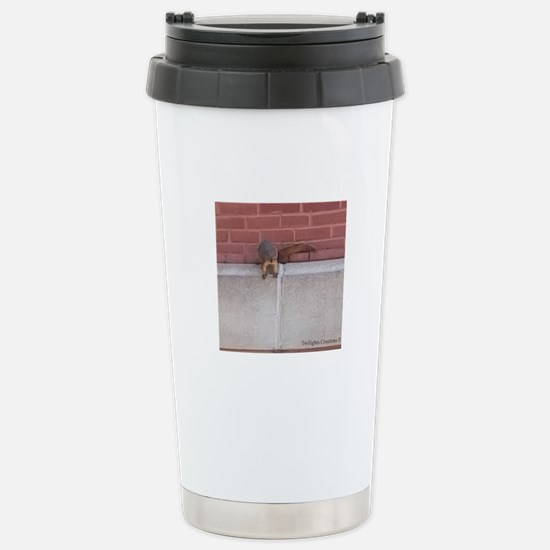 Hanging Out Squirrel Stainless Steel Travel Mug