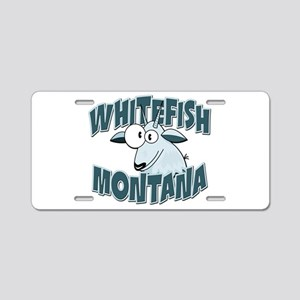 Whitefish Mountain Goat Aluminum License Plate