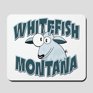 Whitefish Mountain Goat Mousepad