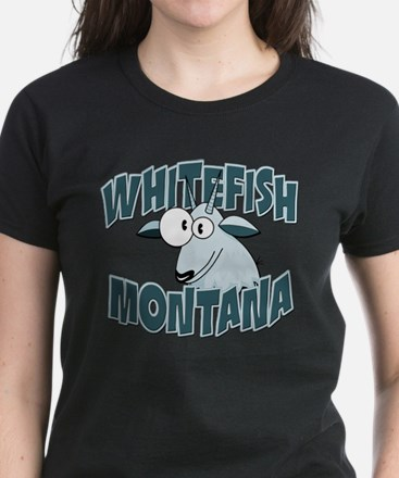 Whitefish Mountain Goat Women's Dark T-Shirt